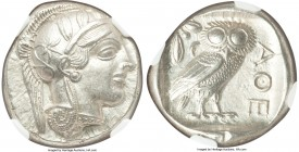 ATTICA. Athens. Ca. 440-404 BC. AR tetradrachm (24mm, 17.19 gm, 4h). NGC MS 5/5 - 4/5. Mid-mass coinage issue. Head of Athena right, wearing crested A...
