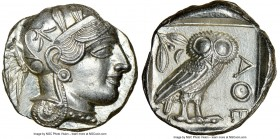 ATTICA. Athens. Ca. 440-404 BC. AR tetradrachm (25mm, 17.21 gm, 2h). NGC MS 5/5 - 4/5. Mid-mass coinage issue. Head of Athena right, wearing crested A...