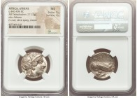 ATTICA. Athens. Ca. 440-404 BC. AR tetradrachm (25mm, 17.21 gm, 9h). NGC MS 5/5 - 4/5. Mid-mass coinage issue. Head of Athena right, wearing crested A...