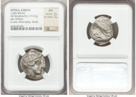 ATTICA. Athens. Ca. 440-404 BC. AR tetradrachm (27mm, 17.01 gm, 3h). NGC AU 5/5 - 5/5. Mid-mass coinage issue. Head of Athena right, wearing crested A...