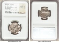 ATTICA. Athens. Ca. 440-404 BC. AR tetradrachm (23mm, 17.10 gm, 8h). NGC AU 4/5 - 4/5. Mid-mass coinage issue. Head of Athena right, wearing crested A...