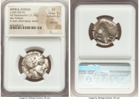 ATTICA. Athens. Ca. 440-404 BC. AR tetradrachm (23mm, 17.19 gm, 4h). NGC XF 5/5 - 4/5, Full Crest. Mid-mass coinage issue. Head of Athena right, weari...