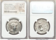 ATTICA. Athens. 2nd-1st centuries BC. AR tetradrachm (31mm, 17.00 gm, 11h). NGC Choice AU 5/5 - 4/5. New Style coinage, ca. 137/6 BC, Mikion and Theop...