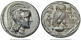 ATTICA. Athens. 2nd-1st centuries BC. AR tetradrachm (31mm, 16.83 gm, 11h). NGC Choice AU 5/5 - 4/5. New Style coinage, ca. 135/4 BC, Mened–, Epigeno–...