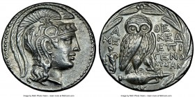 ATTICA. Athens. 2nd-1st centuries BC. AR tetradrachm (29mm, 16.74 gm, 11h). NGC Choice AU 5/5 - 4/5. New Style coinage, ca. 135/4 BC, Mened–, Epigen–,...