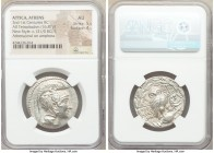 ATTICA. Athens. 2nd-1st centuries BC. AR tetradrachm (29mm, 16.87 gm, 11h). NGC AU 5/5 - 4/5. New Style coinage, ca. 131/0 BC, Dorothe, Dioph and Aisc...