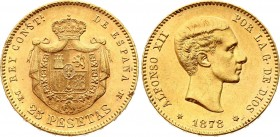 Spain 25 Pesetas 1878 (78)