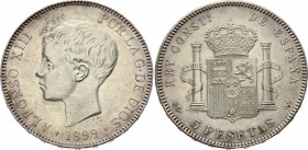 Spain 5 Pesetas 1899 (99) SGV