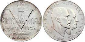 Norway 25 Kroner 1970 