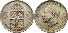 Sweden 5 Kronor 1973 