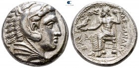 Kings of Macedon. Amphipolis. Philip III Arrhidaeus 323-317 BC. In the name and types of Alexander III. Struck under Antipater, circa 320-319 BC. Tetr...