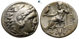 Kings of Macedon. Kolophon. Philip III Arrhidaeus 323-317 BC. In the name and types of Alexander III. Struck circa 322-319 BC. Drachm AR