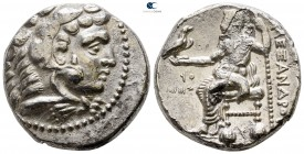 Kings of Macedon. Tyre. Philip III Arrhidaeus 323-317 BC. In the name and types of Alexander III. Struck under Laomedon. Dated RY 27 of 'Ozmilk=323/2 ...