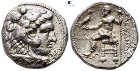Kings of Macedon. Tyre. Philip III Arrhidaeus 323-317 BC. In the name and types of Alexander III. Struck under Laomedon. Dated RY 29 of Azemilkos=321/...