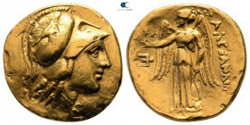 "Kings of Macedon. Amphipolis. Alexander III ""the Great"" 336-323 BC. Lifetime or early posthumous issue. Stater AV"