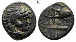"Kings of Macedon. Uncertain mint in Western Asia Minor. Alexander III ""the Great"" 336-323 BC. 1/4 Unit AE"