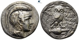 Attica. Athens circa 168/5-50 BC. Struck circa 133/2 BC. Polycharm-, Nikog-, and Dionysios, magistrates. Tetradrachm AR. New Style coinage.