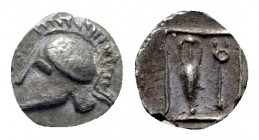 Asia Minor. Uncertain mint circa 500-400 BC. Tetartemorion AR
