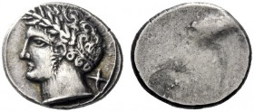 Greek Coins   Etruria, Populonia  10 Units circa 300-250, AR 4.18 g. Laureate male head l.; behind, X. Rev. Blank. Vicari, RIN 1991, 81. SNG ANS 26 (t...