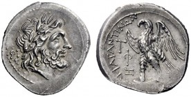 Greek Coins   Agrigentum  Drachm circa 213-211, AR 3.39 g. Laureate head of Zeus r.; behind, ΦI. Rev. AKΡAΓANTINΩN Eagle standing l., with open wings;...