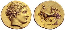 Greek Coins   Kingdom of Macedonia, Philip II, 359 – 336 and posthumous issues  Stater, Amphipolis circa 323-315, AV 8.59 g. Laureate head of Apollo r...