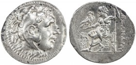 MACEDONIAN KINGDOM: Alexander III, the Great, 336-323 BC, AR tetradrachm (16.73g), Miletus, Price-2198var, posthumous, ca. 190-165 BC: head of Herakle...
