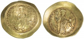 BYZANTINE EMPIRE: Constantine X Ducas, 1059-1067, AV histamenon (4.44g), S-1847, Christ seated on throne with upright arms // emperor standing, holdin...