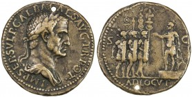 "PADUAN & LATER IMITATIONS: ROMAN EMPIRE: Galba, 68-69 AD, cast AE ""sestertius"", Lawrence-21 var; Klawans-3, Paduan medal after Giovanni Cavino, revers..."