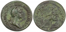 "PADUAN & LATER IMITATIONS: ROMAN EMPIRE: Domitia, 81-96 AD, AE cast ""sestertius"" (14.69g), Lawrence-; Klawans-, unpublished imitation of sestertius of..."
