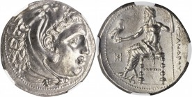 MACEDON. Kingdom of Macedon. Philip III, 323-317 B.C. AR Tetradrachm (17.02 gms), Miletos Mint, ca. 323-319 B.C. NGC MS, Strike: 5/5 Surface: 3/5. Fin...