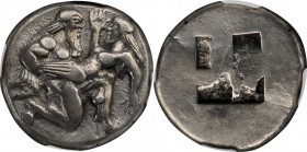 THRACE. Islands off Thrace. Thasos. AR Stater (8.65 gms), ca. 480-463 B.C. NGC Ch EF, Strike: 5/5 Surface: 4/5.