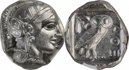ATTICA. Athens. AR Tetradrachm (17.20 gms), ca. 454-404 B.C. NGC MS, Strike: 5/5 Surface: 4/5.