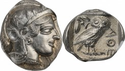 ATTICA. Athens. AR Tetradrachm (17.21 gms), ca. 454-404 B.C. NGC MS, Strike: 5/5 Surface: 4/5.