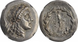 AEOLIS. Myrina. AR Tetradrachm (16.76 gms), ca. 160-143 B.C. NGC AU, Strike: 4/5 Surface: 5/5.