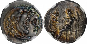 IONIA. Islands off Ionia. Chios. AR Drachm (4.12 gms), ca. 290-275 B.C. NGC Ch MS★, Strike: 5/5 Surface: 5/5. Fine Style.