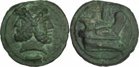 ROMAN REPUBLIC. Anonymous. AE Aes Grave As (281.87 gms), Rome Mint, ca. 225-217 B.C. CHOICE VERY FINE.