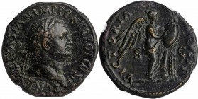 TITUS AS CAESAR, A.D. 69-79. AE Sestertius (23.75 gms), Rome Mint, A.D. 72. NGC Ch EF, Strike: 4/5 Surface: 2/5. Fine Style. Smoothing.