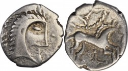 CELTIC BRITAIN. Iceni. AR Unit (1.23 gms), ca. 65-1 B.C. VERY FINE.