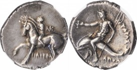ITALY. Calabria. Tarentum. AR Didrachm, ca. 280-272 B.C. NGC Ch VF.