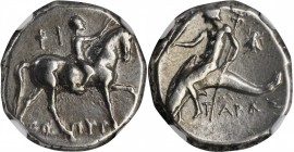 ITALY. Calabria. Tarentum. AR Nomos, ca. 272-240 B.C. NGC VF.