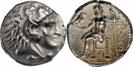MACEDON. Kingdom of Macedon. Alexander III (the Great), 336-323 B.C. AR Tetradrachm, Sidon Mint, Dated RY 10 of Abdalonymos (324/3 B.C.). NGC EF.