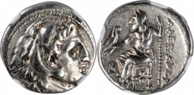 MACEDON. Kingdom of Macedon. Philip III, 323-317 B.C. AR Drachm, Sardes Mint, ca. 322-319/8 B.C. NGC EF.