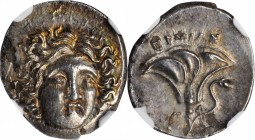 MACEDON. Kingdom of Macedon. Perseus, 179-168 B.C. AR Drachm (2.65 gms), Uncertain Mint in Thessaly, ca. 171/0 B.C. NGC MS, Strike: 4/5 Surface: 4/5.