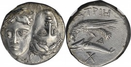 THRACE. The Danubian District. Istros. AR Drachm, ca. 340/30-313 B.C. NGC AU.