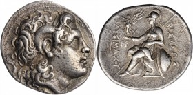 THRACE. Kingdom of Thrace. Lysimachos, 323-281 B.C. AR Tetradrachm (16.61 gms), Lampsakos Mint, 297/6-282/1 B.C. CHOICE VERY FINE.
