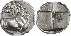 THRACE. Thracian Chersonesos. AR Hemidrachm, ca. 386-338 B.C. NGC MS, Strike: 5/5 Surface: 5/5.