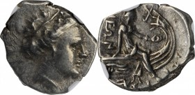 EUBOIA. Histiaia. AR Tetrobol (2.69 gms), 3rd-2nd Centuries B.C. NGC EF, Strike: 4/5 Surface: 4/5.