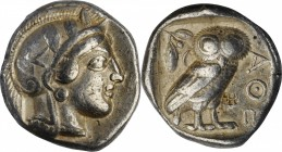ATTICA. Athens. AR Tetradrachm (17.10 gms), ca. 454-404 B.C. CHOICE VERY FINE.