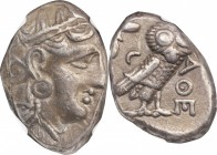 ATTICA. Athens. AR Tetradrachm, ca. 353-294 B.C. NGC Ch VF. Light Scratches.