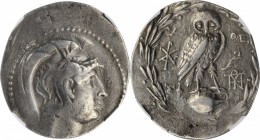 ATTICA. Athens. AR Tetradrachm, 165-149/8 B.C. NGC Ch F.